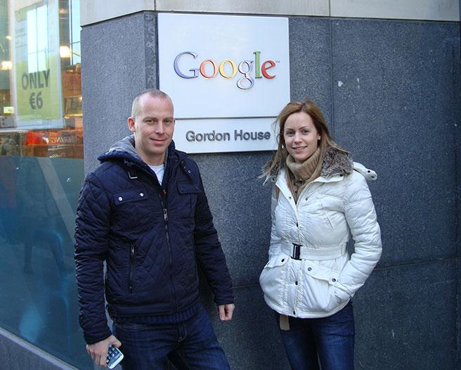 A Google európai központjában